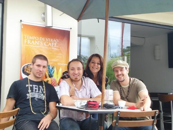 Léo, Paulinho, Flavinha e Richard no Festival