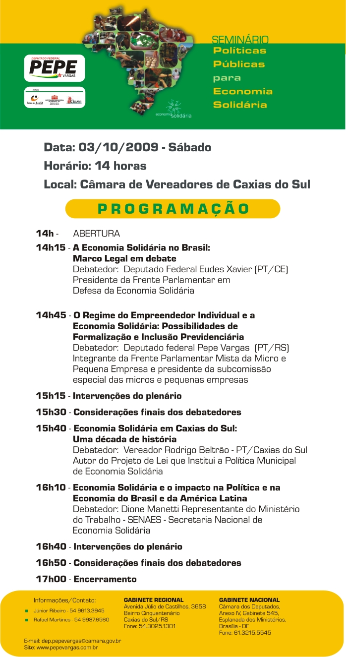 Convite Economia Solidária - Internet
