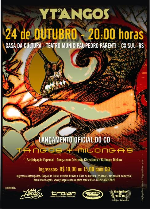 YTANGOS LANÇAMENTO CD